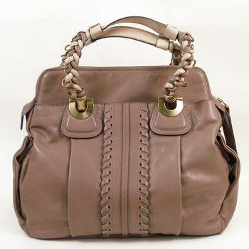 【CHLOE】Heloise Shoulder bag羊皮肩背包紫