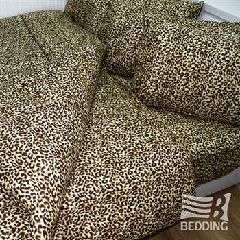【BEDDING】親膚絨雙人三件式床包組(時尚豹紋)