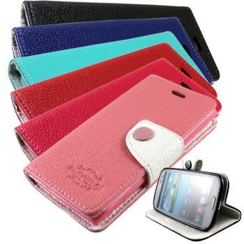 KooPin HTC Desire 200 雙料縫線 側掀皮套
