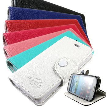 KooPin HTC Desire 600 雙料縫線 立架側掀皮套