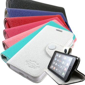 KooPin 三星 Galaxy S4 Mini 雙料縫線側掀皮套