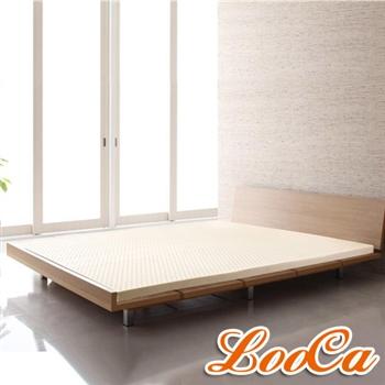 【LooCa】超透氣網布2.5cm天然乳膠床墊(雙人5尺)