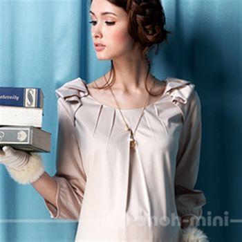 【ohoh-mini】氣質高雅小公主孕婦洋裝
