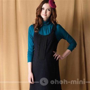 【ohoh-mini】孕婦裝系列-吊帶式寬肩背心孕婦裝