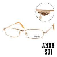 Anna Sui 安娜蘇 金鑽金屬 平光眼鏡 ^#40 金 ^#41 AS05103