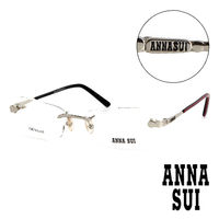 Anna Sui 安娜蘇 復古波浪 無框平光眼鏡 ^#40 銀 ^#41 AS08202