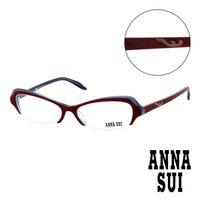 Anna Sui 安娜蘇   平光眼鏡 ^#40 酒紅 ^#41 AS09802