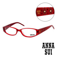 Anna Sui 安娜蘇 金鑽幾何 平光眼鏡 ^#40 紅 ^#41 AS10205