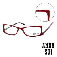 Anna Sui 安娜蘇 魔幻貓耳 平光眼鏡 ^#40 紅 ^#41 AS10303