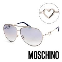 MOSCHINO 義大利 鎖鍊 復古飛行員 太陽眼鏡 #40 銀 #41
