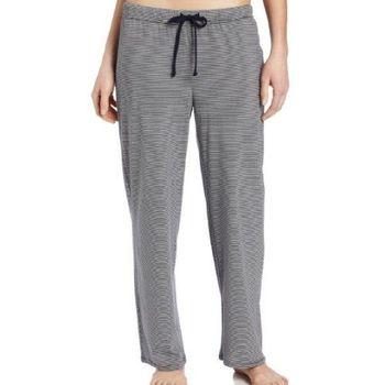 NAUTICA 女魅力灰色條紋針織長睡褲