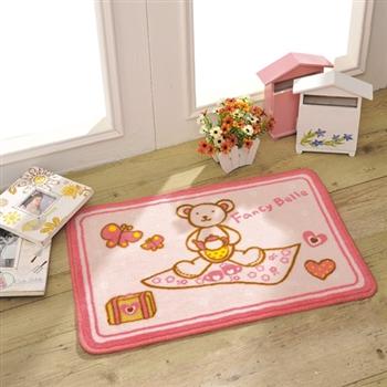 義大利Fancy Belle甜蜜寶貝熊-止滑地墊 / 腳踏墊 一入