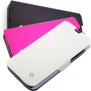 Redberry HTC Desire 500 可立式 水絲紋皮套