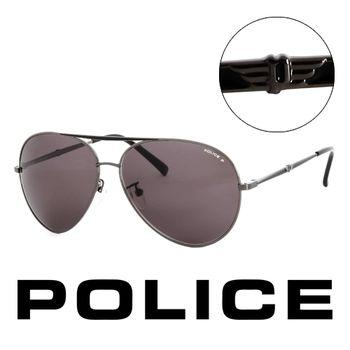 Police 義大利 警察 復古時尚經典造型太陽眼鏡(黑)