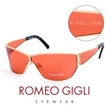 Romeo Gigli 義大利 頂級金框造型太陽眼鏡(橘)