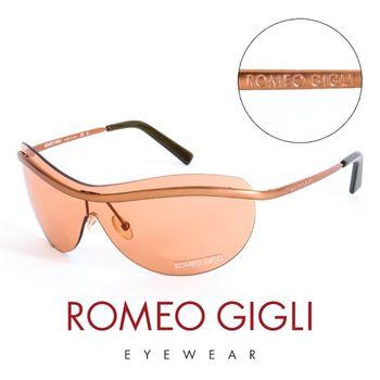 Romeo Gigli 義大利 頂級霧面無框造型太陽眼鏡(橘)