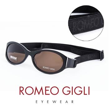 Romeo Gigli 義大利 經典鬆緊帶造型太陽眼鏡(黑)