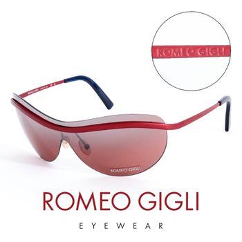 Romeo Gigli 義大利 頂級霧面無框造型太陽眼鏡(紅)