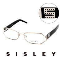 Sisley 法國 希思黎 復古百搭 平光眼鏡 ^#40 黑 ^#41