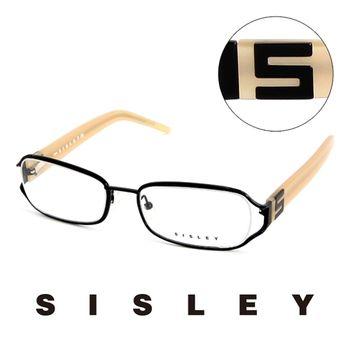 Sisley 法國 希思黎 時尚復古百搭造型平光眼鏡(奶茶)
