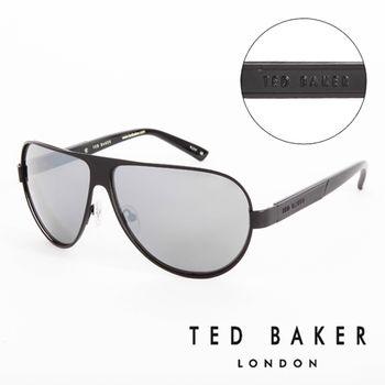 TED BAKER 倫敦 復古質感造型太陽眼鏡(黑)