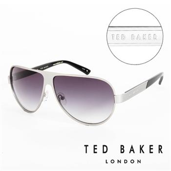 TED BAKER 倫敦 復古質感造型太陽眼鏡(銀)
