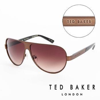 TED BAKER 倫敦 復古質感造型太陽眼鏡(咖啡)