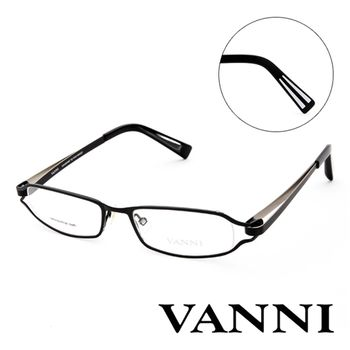 Vanni 復古輕巧造型平光眼鏡(黑)