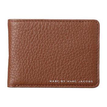 Marc Jacobs 2014經典LOGO棕色魅力皮夾