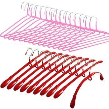 wepon正宗台製彈力衣架加防滑粉彩衣架超值35支組