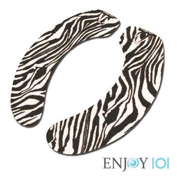 《ENJOY101》抗菌止滑馬桶坐墊-水洗式(旅行可攜)-斑馬紋