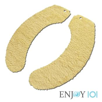 《ENJOY101》抗菌止滑馬桶坐墊-水洗式(家用型)-黃