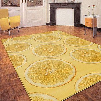 【Ambience】比利時 FASHION 迷漾仿羊毛毯黃色青檸