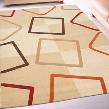 【Ambience】比利時Studioline 現代雕花地毯-菱格