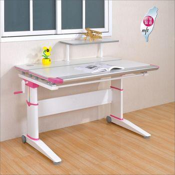 《DFhouse》密卡登優質多功能成長升降桌+桌上架(二色)