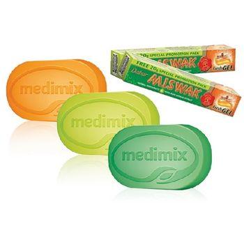 印度MEDIMIX草本美膚皂加送草本牙膏(12+2)特優組