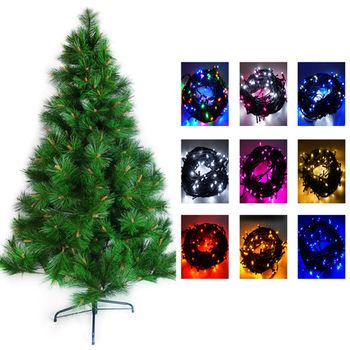 台灣製6呎特級松針葉聖誕樹不含飾品+100燈LED燈2串