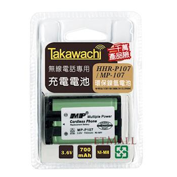 【Panasonic】副廠電池相容於(HHR-P107)