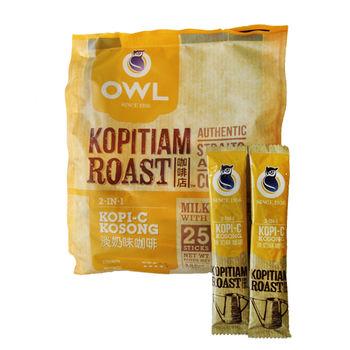 貓頭鷹 二合一碳烤咖啡 2袋入組 -加網