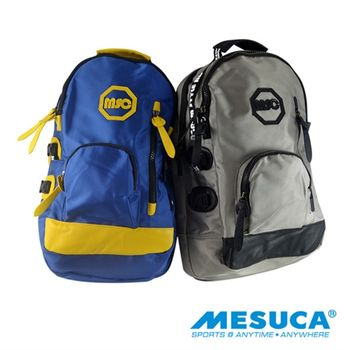 【MESUCA】日本品牌 休閒後背包 可放置筆電-藍/灰