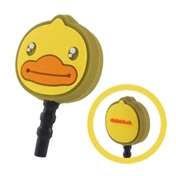 B‧Duck 黃色小鴨造型耳機防塵塞 -大臉小鴨