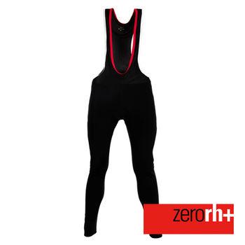 ZERORH+ 刷毛保暖吊帶自行車褲(男)-黑/白款