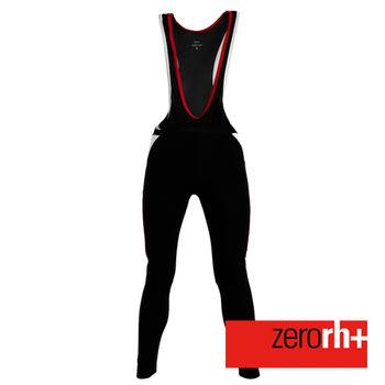 ZERORH+ 刷毛保暖吊帶自行車褲(男)-黑/紅款