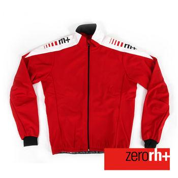 ZERORH+ 義大利專業刷毛防風長袖自行車外套(男)-紅色