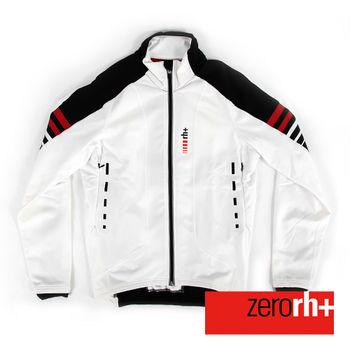 ZERORH+ 義大利專業競賽級刷毛防風自行車外套(男)-白色