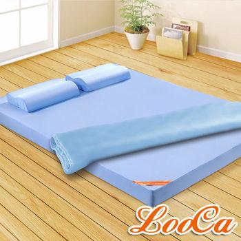 《送枕+被》LooCa美國抗菌系列記憶床墊12cm-單人(共2色)