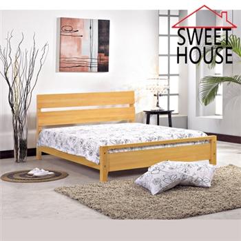 【甜美家】美國檜木實木雙人床架(不含床墊)