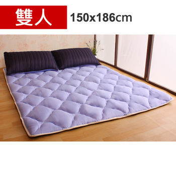 【HB】雙面機能羊毛保暖收納睡墊+枕套(星際之旅-雙人)