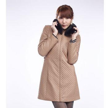 IKON 巴黎時尚經典小羊皮長外套