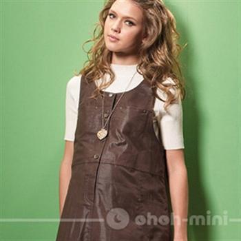 【ohoh-mini】孕婦裝系列-棉質休閒背心孕婦洋裝